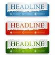 Abstract web headers design banners vector image vector image
