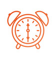 alarm clock time alert bell hour concept vector image vector image