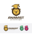 animal learn logo design vector image vector image