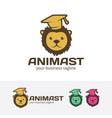 animal learn logo design vector image