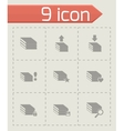 archive icon set vector image vector image