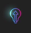 Arrow straight ahead directioion light bulb icon