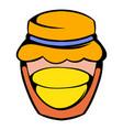 bank with honey icon icon cartoon vector image vector image