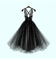 beautiful black dress for special event vector image vector image