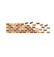 brick wall icon vector image vector image