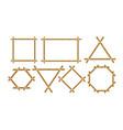 brown bamboo frames flat set vector image vector image
