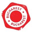 Bucharest stamp rubber grunge vector image vector image