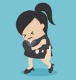 business concept cartoon woman vector image