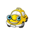 cartoon yellow taxi car character vector image