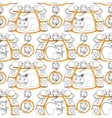 Cat and Mice Seamless Pattern on White vector image