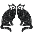 Cats tattoo vector image