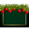 Christmas or New Year decoration vector image