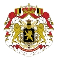 coat of arms of Belgium vector image