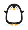 cute cartoon penquin isolated on white background vector image