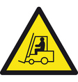 danger forklift trucks safety sign vector image vector image