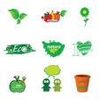 eco icon green vector image vector image