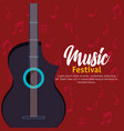 electric guitar instrument icon vector image vector image