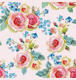 english roses seamless pattern vector image vector image