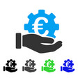 euro development service hand flat icon vector image vector image
