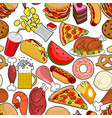 food seamless pattern feed ornament meat vector image
