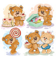 funny with teddy bear on theme vector image