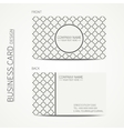 Geometric lattice monochrome business card vector image