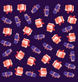 gift boxes party decoration background vector image