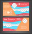 gift voucher design template vector image vector image