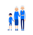 grandparents and grandchildren grandma grandpa vector image