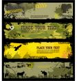 Grunge military banners vector image