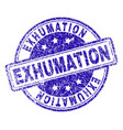grunge textured exhumation stamp seal vector image