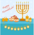 Happy Hanukkah greeting card invitation poster vector image