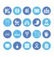 hospital medical flat glyph icons human organs vector image