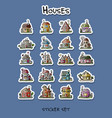 houses sticker set for your design vector image vector image