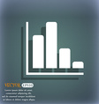 Infographic icon On the blue-green abstract vector image vector image