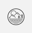 lake emblem vector image
