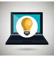laptop computer with laptop isolated icon design vector image vector image
