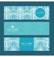 light blue swirls damask horizontal banners vector image vector image