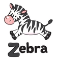 Little Zebra for ABC Alphabet Z vector image