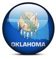 Map on flag button of USA Oklahoma State vector image vector image
