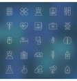 Medical and Health care Line Icons Set over vector image vector image