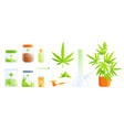 medical marijuana flat set vector image vector image