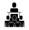meeting business people boss podium presentation vector image vector image