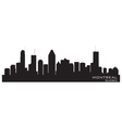 Montreal Canada skyline Detailed silhouette vector image vector image