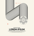 movie and film poster template design modern vector image vector image