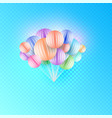 origami paper art colorful bunch of birthday vector image vector image