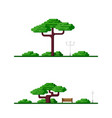 outdoor scene with tree vector image vector image