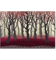 parallax cartoon mysterious forest landscape vector image vector image
