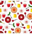 pickled cucumber fork pattern vector image vector image