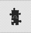 piece of puzzle icon on transparent background